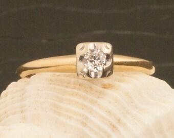 Vintage 14 Karat Gold Diamond Ring