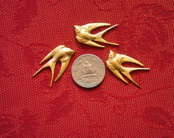 Three Small Swallow Decorative Elements  SHIPPING INCLUDED