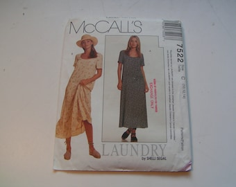 Vintage McCalls Pattern 7522 Laundry by Shelli Segal Miss Dress