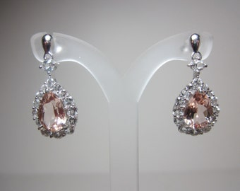Mozambique Cor-De-Rosa Morganite Earrings