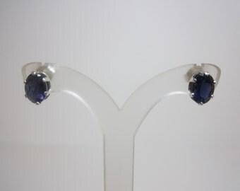 Untreated Indian Iolite Earrings