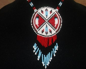 native american necklace, eagle feather necklace