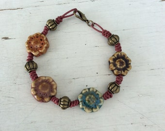 Flower Power Bracelet/Hippie/Boho
