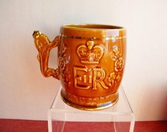 Vintage Queen Elizabeth Arthur Wood Ceramic Mug Made In England