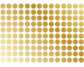 Gold Metallic Polka Dot Wall Decal Nursery Kids Room Peel and Stick Circle Sticker Metallic Wedding Removable Reusable 150 Dots Included