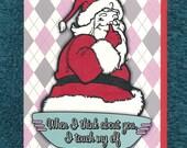 Christmas Card Santa Elf Funny Christmas Card Mature