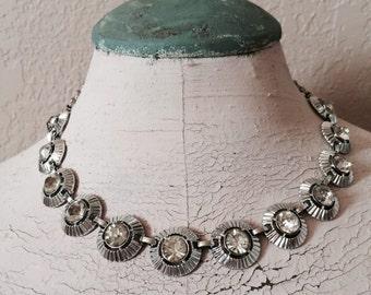 Prong Set Rhinestone Necklace Wedding Jewelry