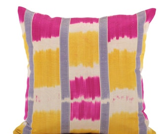 19 x 19 Pillow Cover Ikat Pillow Cover Old Ikat Pillow Cover Throw Pillow Decorative Pillow FAST SHIPMENT with ups or fedex - 09111