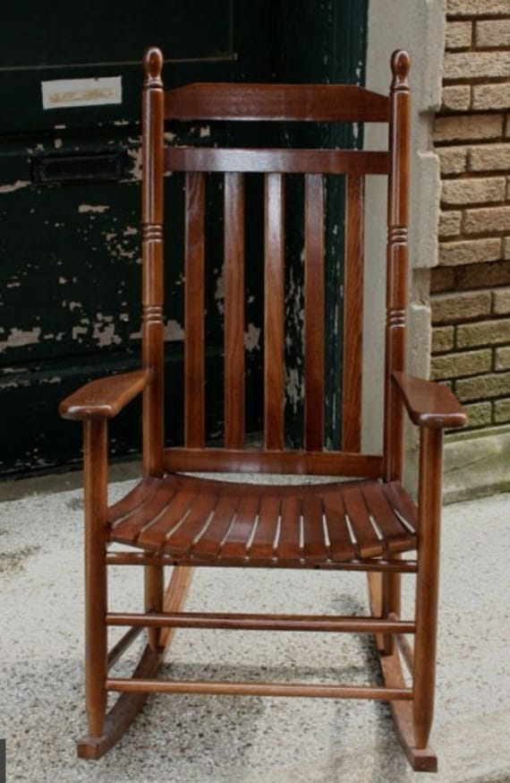 Delightful Solid Ash Wood Rocking Chair Custom Engraving Perfect Anniversary,  Retirement Or Wedding Gift