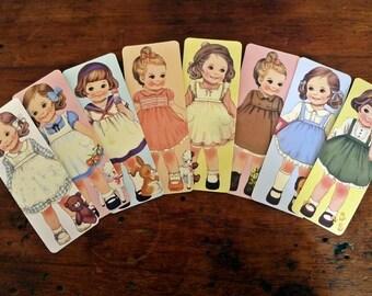 Cute Vintage Children Bookmarks - Set of 8 (Set 3)