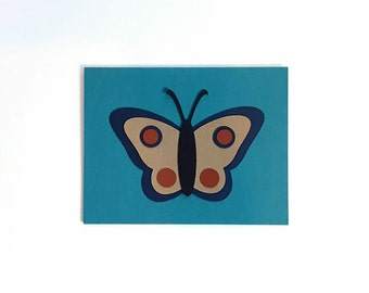moth card kit - makes 4 diy mix and match thank you, just because, anytime cards