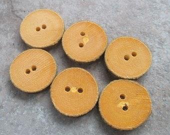 6 Round Beech Branch Buttons
