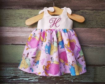 Disney Princess dress, Cinderella Dress, Disney inspired outfit, baby dress, belle, snow white, sleeping beauty, coming home outfit