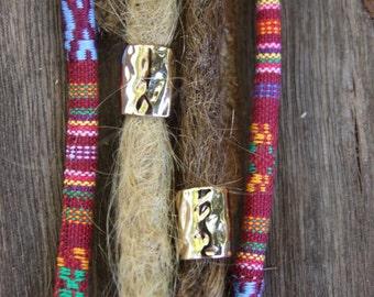 4 Golden Alloy Dreadlock Beads 9mm Hole (3/8 Inch) Dread Hair Beads