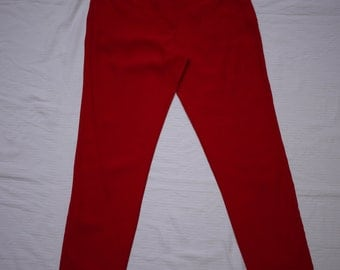 Moschino Red Jean style trousers/ pants