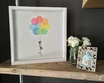 Personalised Balloon Print / Photo Gift / Printable / Photo to Art / Custom Made / Unique Photo Gift / Personalised Art Print