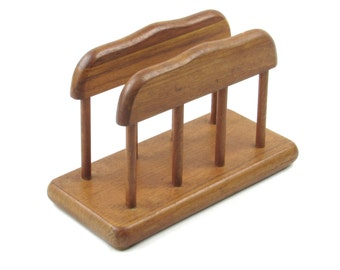 Traditional Wooden Napkin Holder - Genuine Teak Wood by Goodwood of Thailand