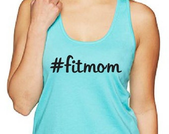 Fitmom Racerback Tank with vinyl material