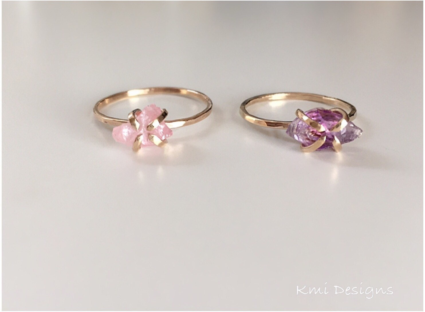 Rose quartz ring engagement rings rose quartz by for Quartz wedding rings