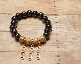 Hematite Stretch Bracelet, Stack Bracelet, Gemstone Bracelet*** SALE 20% OFF - CODE 20PERCENT ***