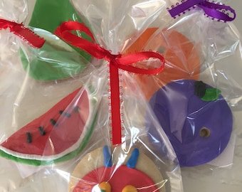 Very Hungry Caterpillar Cookie Favors