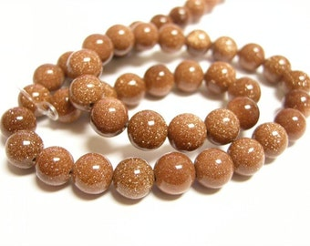 15 inch Gold sand stone Gemstone Beads 10mm(36-38beads)-10152