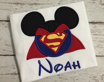 Superman Mickey Ears Birthday Shirt