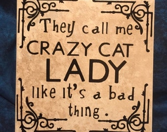 Crazy Cat Lady Tile