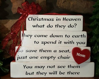 Christmas in Heaven What do they Do Sign, May be personalized