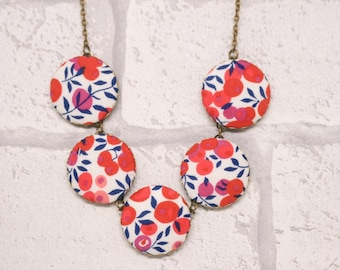 Liberty of London Wiltshire Five Button Fabric Necklace