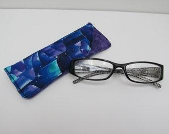 Blue Purple Turquoise Reading Glass Case, Handmade Small Glasses Case, Handmade Glasses Case, Soft Glasses Case, Small Case, Glasses Holder