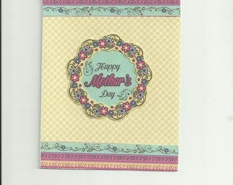 Handmade greeting card, blank inside.