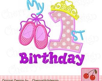 Ballet Birthday, Ballet Birthday Shirt, Girl Birthday Shirt, First Birthday Shirt, Princess Birthday