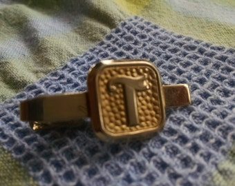 """Monogram  """"T"""" Tie Bar"""