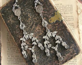 Fabulous Vintage Rhinestone Chandelier Earrings