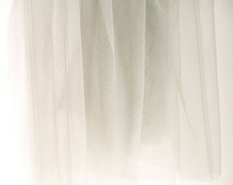 Light Grey Soft Tulle Veiling Fabric 150cm wide -  Sold by the metre