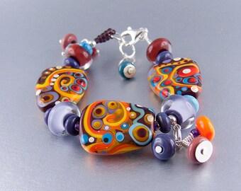 Michou Pascale Anderson - Blooming Desert - Art Glass Bracelet