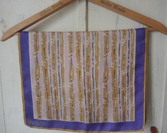 vintage Vera Neumann scarf acetate  14 x 43 inches