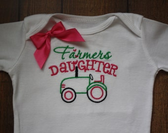 Farmers Daughter design on bodysuit or t-shirt