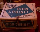 Webway Sign Cabinet, Vintage Sign Making Kit, Webway, Vintage Collectables