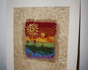 Morning Sunshine - Hand Felted Picture