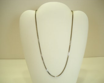 "Vintage 16"" Silver Tone Link Chain Necklace (8242)"