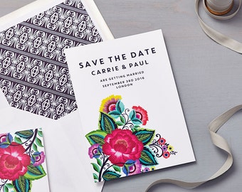 Floral Folk Save the Date