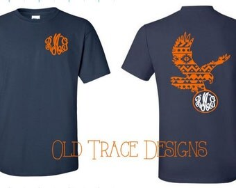 Aztec Eagle Monogram Shirt Available in Long or Short Sleeve