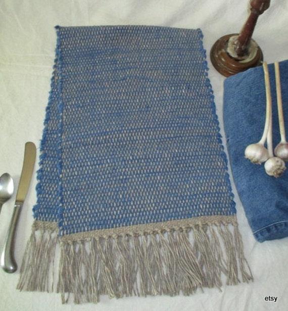 table runner blue table rug bureau scarf