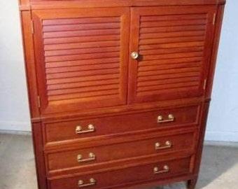 Mid Century Maddox High Boy Credenza / Dresser Vintage Chest Style Furniture