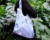 Purse cotton deniml bag shoulder blue  purse denim tote