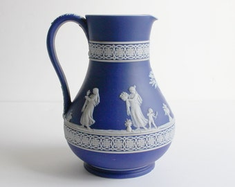 Antique  Wedgwood Jasperware Dip Pitcher Classical Rome