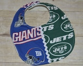 New York Giants and New York Jets House Divided Baby Bib