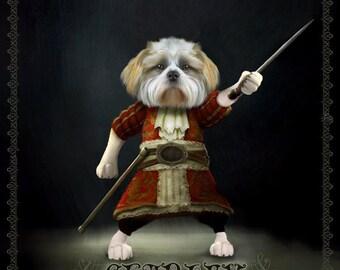 Custom pet portrait - Unique Pet Portrait art, Gift for pet lover, cat lover, dog lover, Unique pet gift, Pet art, Pet prints